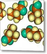 Isovaleric Acid Molecular Models Metal Print
