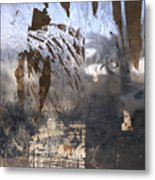 Israel, Jerusalem Abstract Of A Window Metal Print