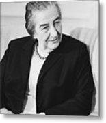 Israel Prime Minister Golda Meir 1973 Metal Print