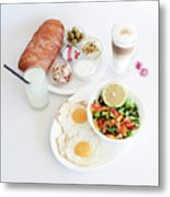 Israeli Breakfast Metal Print