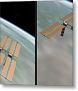 Iss - Gently Cross Your Eyes And Focus On The Middle Image Metal Print