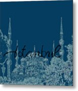 Istanbul Blue Mosque Metal Print