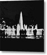 Istanbul Fountain Lights Metal Print