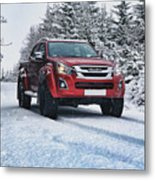 Isuzu In The Snow Metal Print