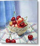 It Is Raining Cherries Metal Print