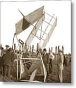 It Was A Good Landing The Pilot Walked Away  Twin Wing Aircraft  Circa 1909 Metal Print