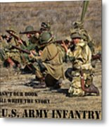 It Wasn't Our Book - Us Army Infantry Metal Print