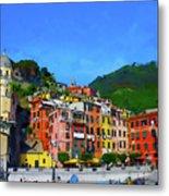 Italian Beachside  Metal Print