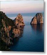 Italian Cliffs Metal Print