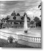 Italian Fountain Maymont B And W Metal Print