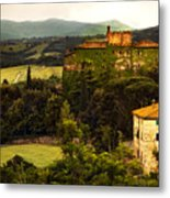 Italian Castle And Landscape Metal Print