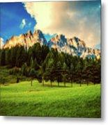 Italian Mountain Meadow Metal Print