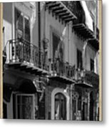 Italian Street In Black And White Metal Print by Stefano Senise