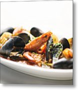 Italian Traditional Seafood Stew  Metal Print