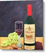 Italian Wine And Fruit Metal Print