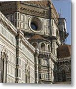 Italy, Florence, Facade Of Duomo Santa Metal Print