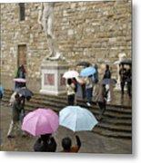 Italy, Florence, Piazza Della Signora Metal Print