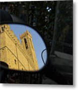 Italy, Florence, Reflection In Mirror Metal Print