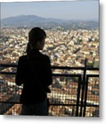 Italy, Florence, Tourist Looks Metal Print