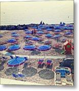 Italy, Sanremo, The Beach. Metal Print