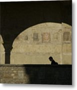 Italy, Tuscany, Florence, A Man Walks Metal Print