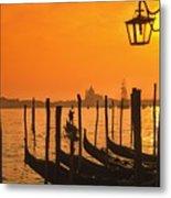 Italy Venice Riva Degli Schiavoni , Canale Grande Riva Degli Sch Metal Print