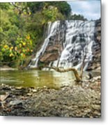 Ithaca Falls In Early Autumn Metal Print