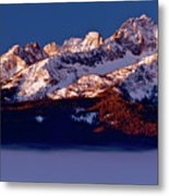 Its A New Day First Light Sawtooth Range Metal Print