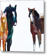 It's All About The Horses Metal Print