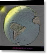 It's An Abstract World Metal Print