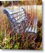It's Been Awhile - Park Bench Metal Print
