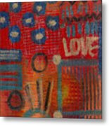 It's Love Metal Print