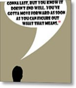 It's Your Life - Mad Men Poster Don Draper Quote Metal Print