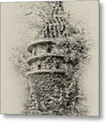 Ivy Covered Castle In The Woods Metal Print