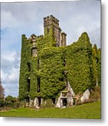 Ivy Covered Ruined Castle Ireland Metal Print