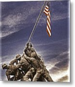 Iwo Jima Flag Raising Metal Print