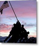 Iwo Jima Memorial In Arlington Virginia Metal Print by Brendan Reals