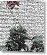 Iwo Jima War Mosaic Metal Print