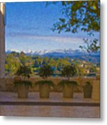 J Paul Getty Center Museum Terrace Metal Print
