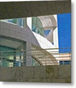 J. Paul Getty Museum Abstract View Metal Print