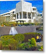 J. Paul Getty Museum Central Garden Panorama Metal Print