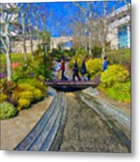 J Paul Getty Museum Garden Terrace Metal Print