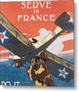 Join The Air Service Metal Print