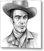 Cowboy Jack Elam Metal Print