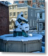Jack Frost Visits For First Day Of Spring Metal Print