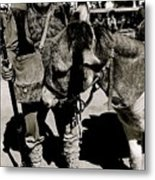 Jack Hendrickson With Pet Burro  Number 1 Helldorado Days Parade Tombstone Arizona 1980 Metal Print