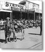 Jack Hendrickson With Pet Burro Number 2 Helldorado Days Parade Tombstone Arizona 1980 Metal Print