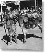 Jack Hendrickson With Pet Burro Number 3 Helldorado Days Parade Tombstone Arizona 1980 Metal Print