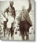 Jack Johnson - Heavyweight Boxing Champion  1908 - 1915 Metal Print