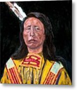 Jack Red Cloud Metal Print